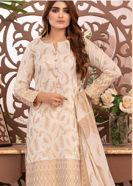 Deluxe by Riaz Arts Banarsi Broschia Unstitched 3 Piece Suit RA20D RA-48 - Spring / Summer Collection