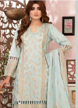 Deluxe by Riaz Arts Banarsi Broschia Unstitched 3 Piece Suit RA20D RA-50 - Spring / Summer Collection
