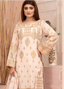 Deluxe by Riaz Arts Banarsi Broschia Unstitched 3 Piece Suit RA20D RA-51 - Spring / Summer Collection
