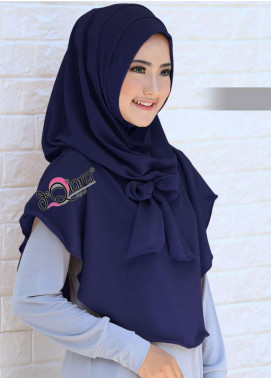 DeQiara  Bubble Pop  Ladies Scarves HH DeQiara Lipit 01 Navy Blue