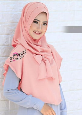 DeQiara  Bubble Pop  Ladies Scarves HH DeQiara Lipit 04 Baby Pink