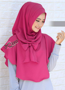 DeQiara  Bubble Pop  Ladies Scarves HH DeQiara Lipit 07 Pink Fresh