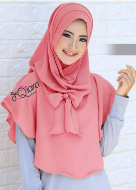 DeQiara  Bubble Pop  Ladies Scarves HH DeQiara Lipit 09 Dark Pink