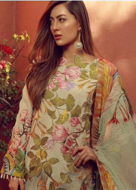 Rungrez Embroidered Lawn Stitched 3 Piece Suit RNG18L 12