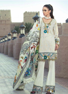 Tena Durrani Embroidered Silk Stitched 3 Piece Suit TD17W 6B