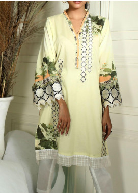Dhanak Embroidered Cambric Stitched Kurti DC-0272