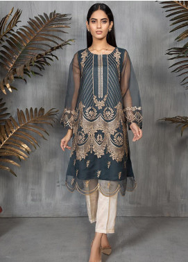 Dhanak Formal Organza Stitched Kurti DA-1195 GREY