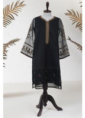 Dhanak Embroidered Tissue Stitched Kurti DA-1263 Black