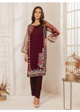 Dhanak Embroidered Tissue Stitched Kurti DA-1268 Purple
