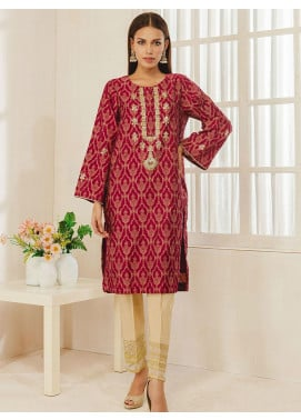 Dhanak Embroidered Jacquard Stitched Kurti DA-1273 Purple