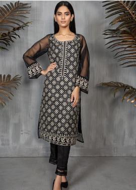 Dhanak Formal Tissue Stitched Kurti DA-1280 BLACK