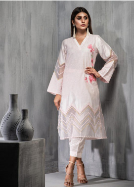 Dhanak Embroidered Cotton Net Stitched 2 Piece Suit DA-1102 Pink
