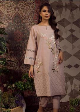 Dhanak Embroidered Khaddar Stitched 2 Piece Suit DC-0208 Beige