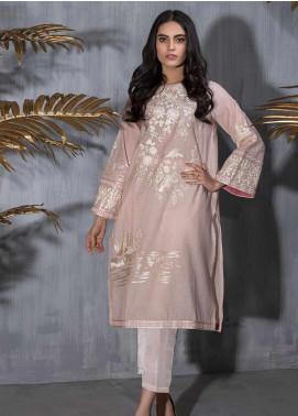 Dhanak Embroidered Jacquard Stitched Kurtis DA-1220 Pink