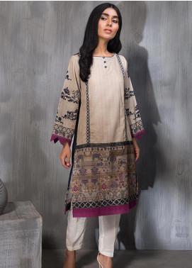 Dhanak Embroidered Khaddar Stitched Kurtis DC-0199 Beige