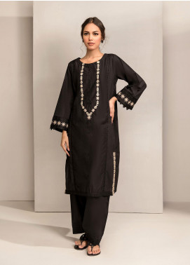 Dhanak Embroidered Cotton Stitched Kurtis DC-0254