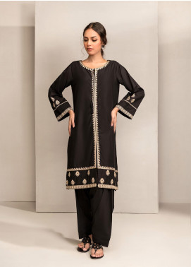 Dhanak Embroidered Cotton Stitched Kurtis DC-0255