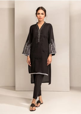 Dhanak Embroidered Cotton Stitched Kurtis DC-0266