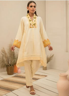 Dhanak Embroidered Khaddar Stitched 2 Piece Suit DC-0294 Off-White