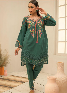 Dhanak Embroidered Khaddar Stitched 2 Piece Suit DC-0295 Green
