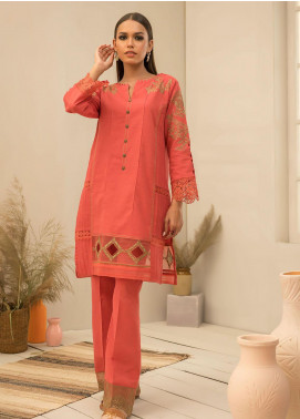 Dhanak Embroidered Khaddar Stitched 2 Piece Suit DC-0296 RUST