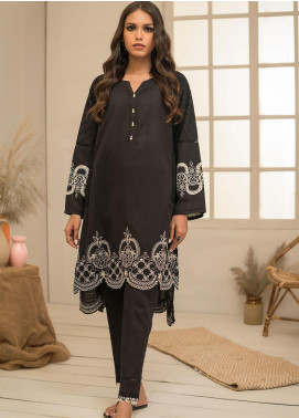 Dhanak Embroidered Khaddar Stitched 2 Piece Suit DC-0298 Black