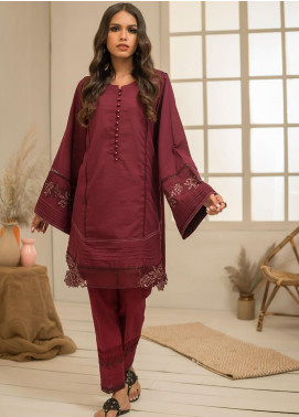Dhanak Embroidered Khaddar Stitched 2 Piece Suit DC-0299 Maroon