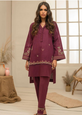 Dhanak Embroidered Khaddar Stitched 2 Piece Suit DC-0328 Purple