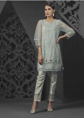 Dhanak Embroidered  Stitched Kurtis DA-0677 Grey