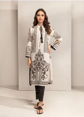 Dhanak Printed Lawn Unstitched Kurties DK20BW DU-1040 WHITE - Black & White Collection