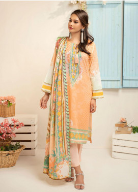 Dhanak Printed Lawn Unstitched 3 Piece Suit DK20L DU3037 - Summer Collection