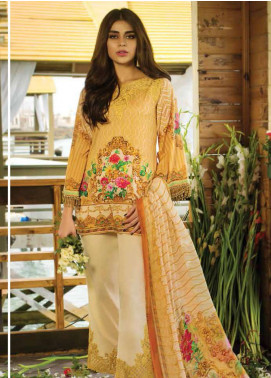 Doric By Reemal Khan Embroidered Lawn Unstitched 3 Piece Suit DO18L 01 - Luxury Lawn Collection