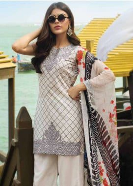 Doric By Reemal Khan Embroidered Lawn Unstitched 3 Piece Suit DO18L 02 - Luxury Lawn Collection