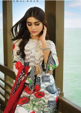 Doric By Reemal Khan Embroidered Lawn Unstitched 3 Piece Suit DO18L 04 - Luxury Lawn Collection