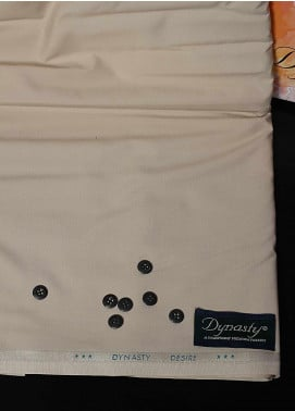 Dynasty Plain Wash N Wear Unstitched Fabric Desire Beige 4P2 - Summer Collection