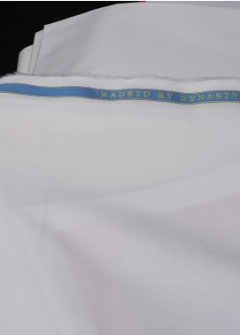 Dynasty Plain Egyptian Cotton Unstitched Fabric Madrid Cream - Summer Collection