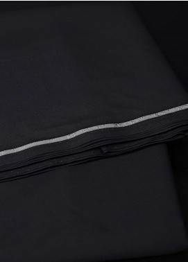 Dynasty Plain Egyptian Cotton Unstitched Fabric Pearl Black - Summer Collection