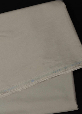 Dynasty Plain Egyptian Cotton Unstitched Fabric Pearl-Silver - Summer Collection