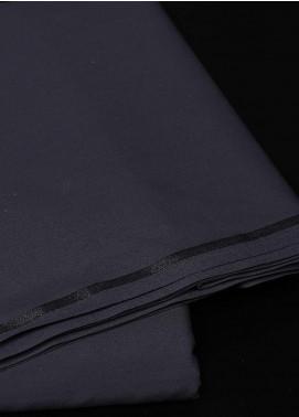 Dynasty Plain Wash N Wear Unstitched Fabric S Q Dark Grey - Summer Collection
