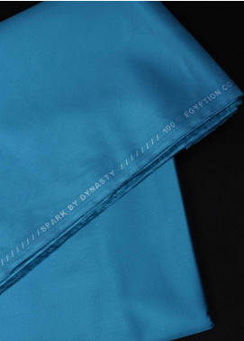 Dynasty Plain Egyptian Cotton Unstitched Fabric Spar-Teal - Summer Collection