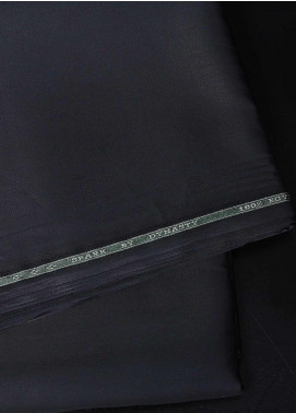 Dynasty Plain Egyptian Cotton Unstitched Fabric Spark Black 4P5 - Summer Collection