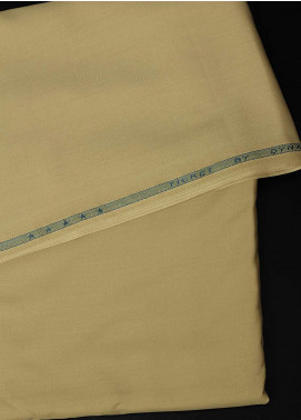 Dynasty Plain Wash N Wear Unstitched Fabric Ticket Light Yellow 4P2 - Summer Collection
