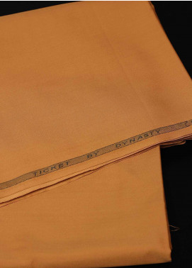 Dynasty Plain Wash N Wear Unstitched Fabric Ticket Mustard 4P2 - Summer Collection