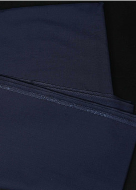 Dynasty Plain Wash N Wear Unstitched Fabric Ticket Navy 4P2 - Summer Collection