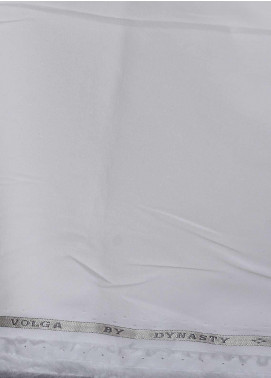 Dynasty Plain Cotton Unstitched Fabric Volga Off White 4P5 - Summer Collection