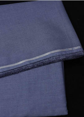 Dynasty Plain Cotton Unstitched Fabric York Soft Dark Blue - Summer Collection