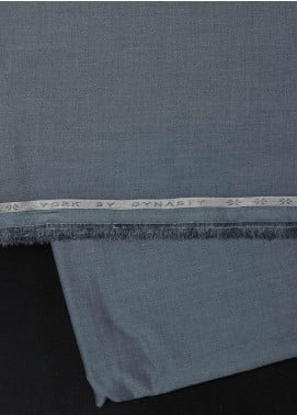 Dynasty Plain Cotton Unstitched Fabric York Soft Oil Blue - Summer Collection