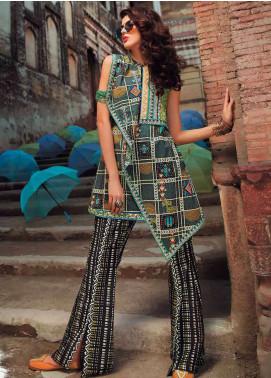 Edenrobe Printed Pima Cotton Unstitched 2 Piece Suit ED18-L2 19311 - Summer Collection