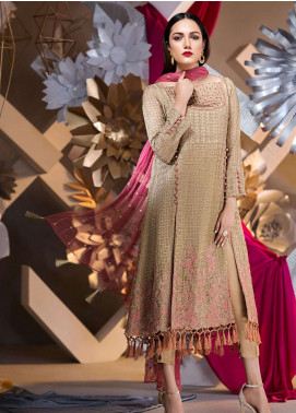Edenrobe Embroidered Khaadi Net Unstitched 3 Piece Suit ED18F 19337 - Eid Collection