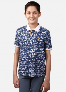 Edenrobe Cotton Polo Boys Shirts - Blue EBTPS19-010